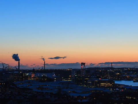 Following the Sun. Gothenburg, Sweden. Time Lapse Footage