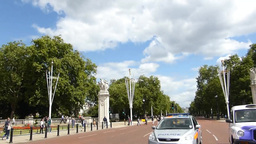 View of UK London Queen Victoria Memorial Gardens  Footage