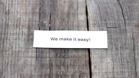 We make it easy Stock Video Footage