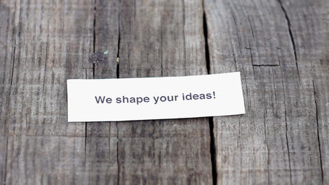 We shape your ideas Stock Video Footage