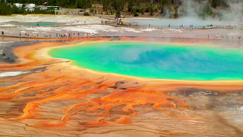 Grand Prismatic Spring, time lapse Footage