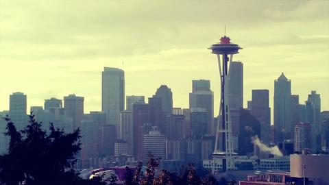 Seattle Skyline Stock Video Footage