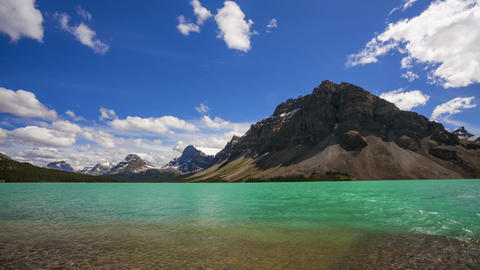 Bow Lake and Crowfoot Mountain, time lapse Footage