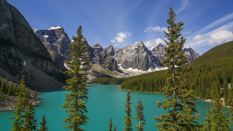 Moraine Lake, Time Lapse Stock Video Footage