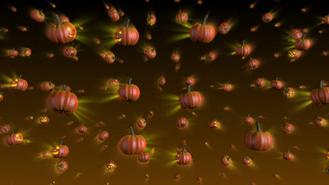 Halloween Pumpkins Falling Background Animation