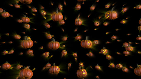 Halloween Pumpkins Falling Background stock footage