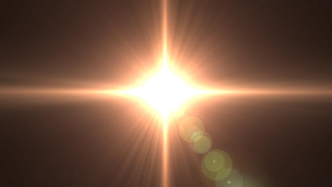 Lens flare F Stock Video Footage