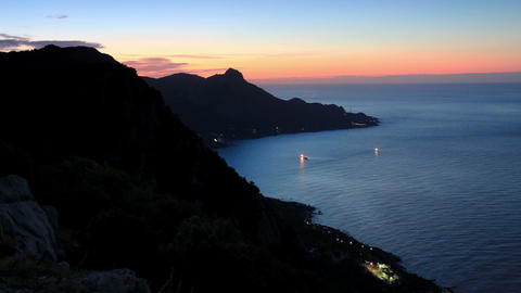 Timelapse sunrise in the mountains Koosh-Kaya. Cri Footage