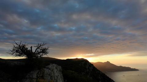 Timelapse sunrise in the mountains Koosh-Kaya. Cri Stock Video Footage