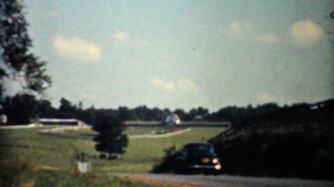 Driving Through The Virginia Countryside 1940 8mm Stock Video Footage