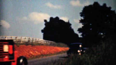 Driving Through The Virginia Countryside 1940 8mm Footage
