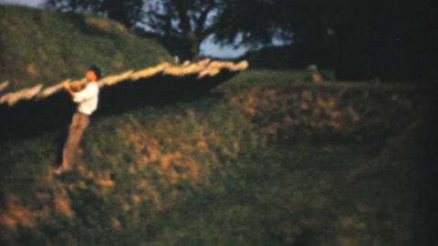 Visiting Historic Yorktown Fort 1940 Vintage 8mm Stock Video Footage