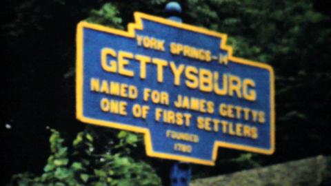 Visiting Historic Gettysburg 1940 Vintage 8mm film Stock Video Footage