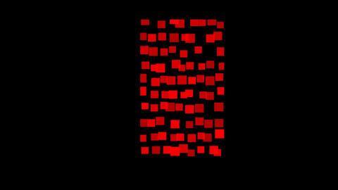 Square Particles flicker Transition w M Stock Video Footage