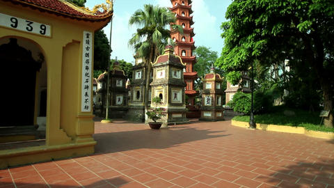 Tran Quoc Pagoda, Hanoi Stock Video Footage