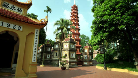 Tran Quoc Pagoda, Hanoi Stock Video Footage