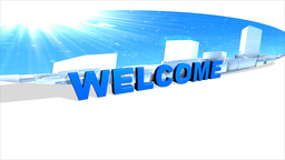 Abstract City, Welcome sign Stock Video Footage