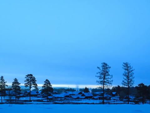Dawn in the village. Time Lapse Stock Video Footage