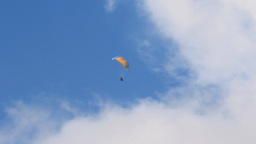 PARAGLIDER AT THE SKY stock footage