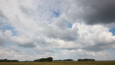timelapse with clouds moving over field Footage