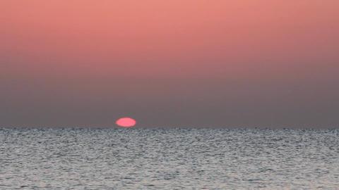 sunrise over sea - timelapse Stock Video Footage