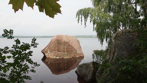 Monrepo park in Vyborg Russia Stock Video Footage