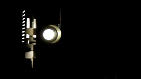 flickering light film projector Stock Video Footage