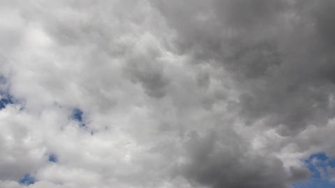 timelapse with grey clouds moving Stock Video Footage