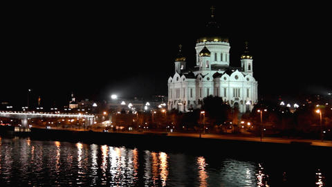 Christ the Savior Cathedral in Moscow Footage