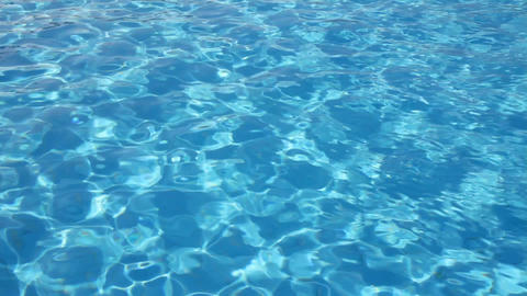 swimming pool with ripple turquoise water backgrou Stock Video Footage