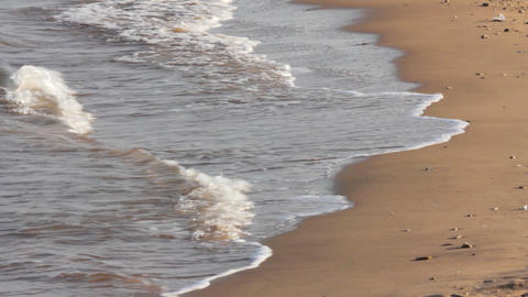 sea water waves and sand beach Stock Video Footage