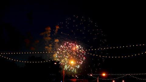 celebration fireworks Stock Video Footage