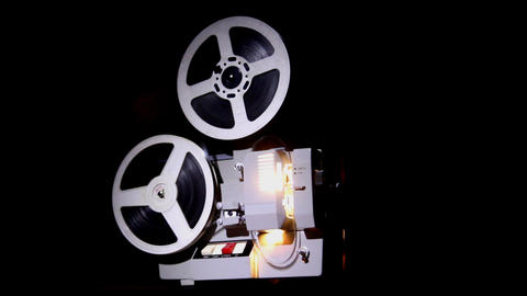 old projector showing film Stock Video Footage