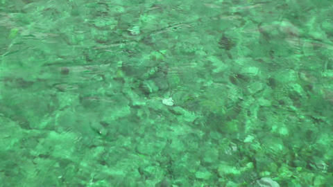 emerald water background in shallow Stock Video Footage