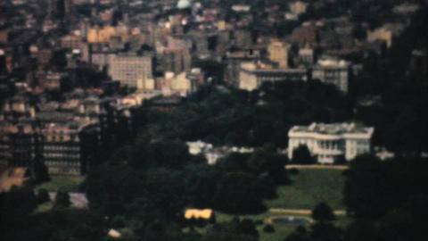 Aerial View White House Washington DC 1940 Stock Video Footage