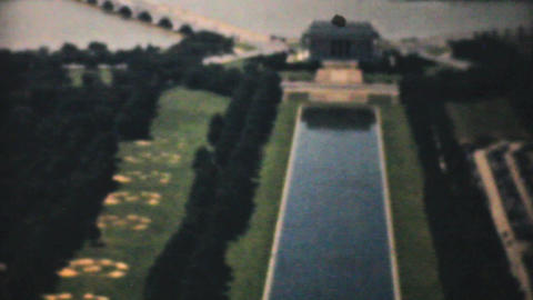 Aerial View White House Washington DC 1940 stock footage