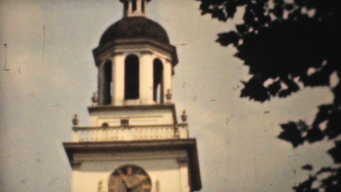 Independence Hall Philadelphia 1940 Vintage 8mm stock footage