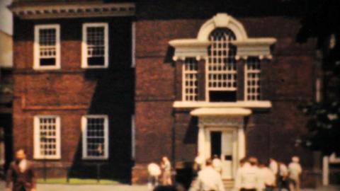 Independence Hall Philadelphia 1940 Vintage 8mm Stock Video Footage
