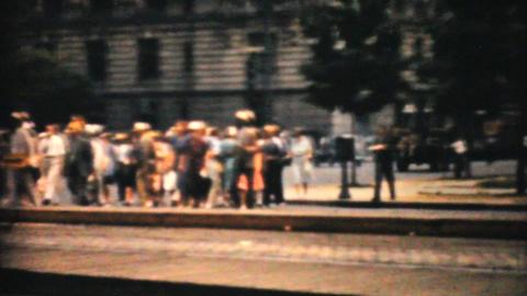 Washington Monument Marines Doing Semaphore 1940 Stock Video Footage