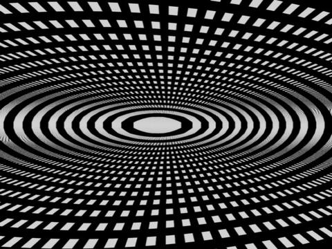 3D Concentric Circles #2 Stock Video Footage