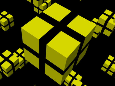 Yellow Cube Space #1 Animation
