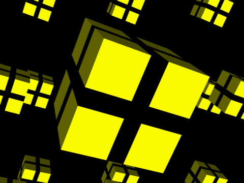 Yellow Cube Space #1 Stock Video Footage