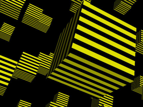 Yellow Cube Space #2 Animation