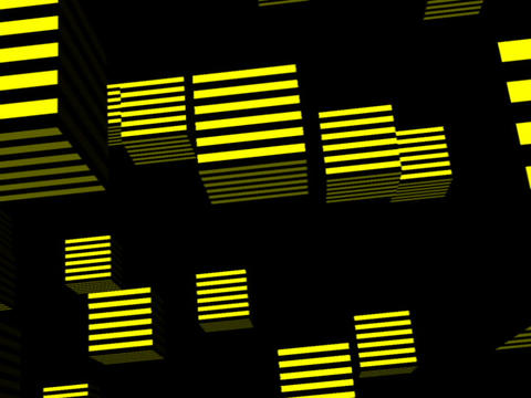 Yellow Cube Space #2 Stock Video Footage