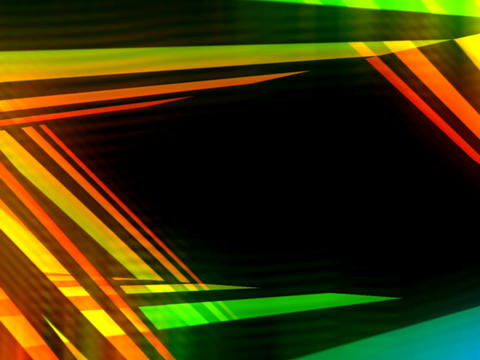 3D Multicolored Streaks #2 Animation