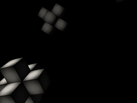 Floating Cubes #1 Stock Video Footage