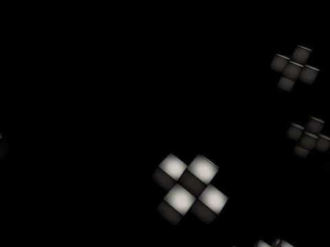 Floating Cubes #3 Stock Video Footage