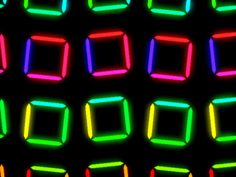 Colorful Square Pattern #2 Stock Video Footage