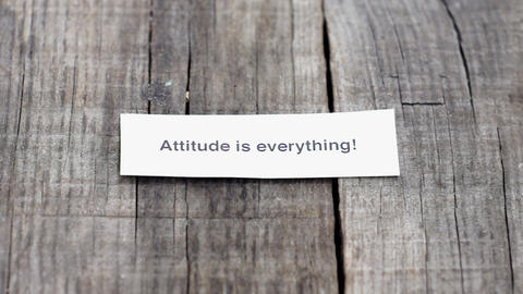 Attitude Is Everything Stock Video Footage