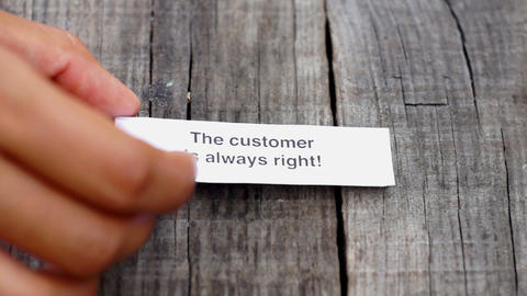 The Customer is always right Footage